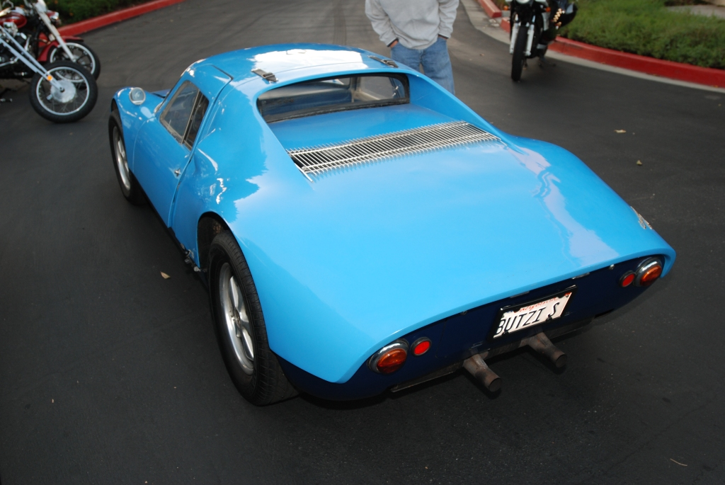 Blue 1964 Porsche 904 Carrera GTS_3/4 left rear view& reflections_Cars&Coffee_September 29, 2012