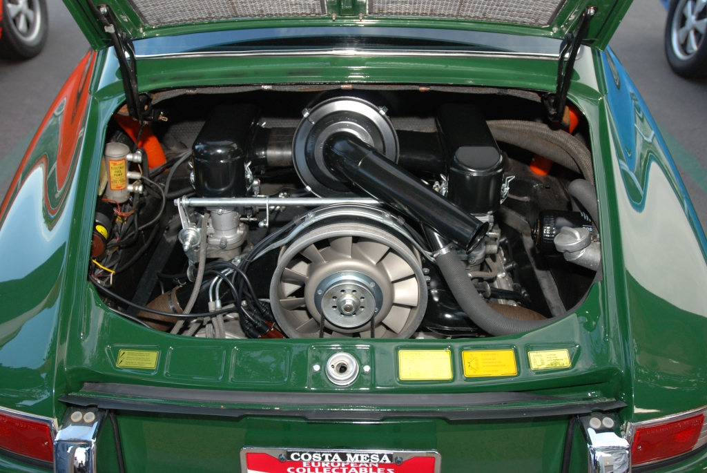 1965 Irish Green Porsche 911_engine detail, Solex carbs_Cars&Coffee_October 6, 2012