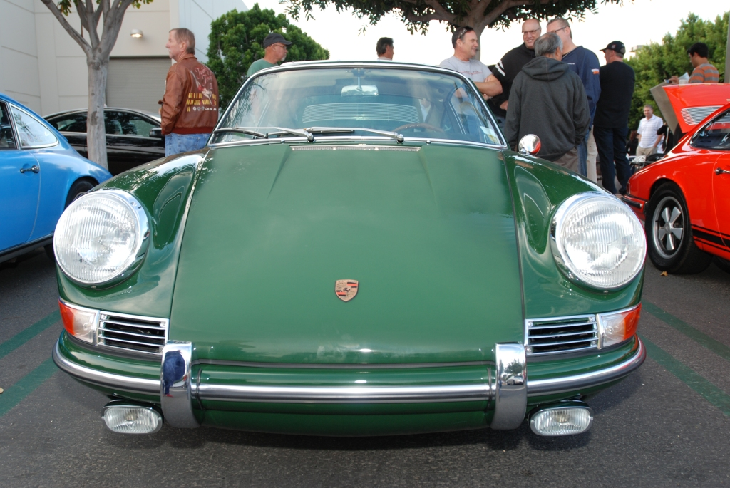 1965 Irish Green Porsche 911_front view_Cars&Coffee_October 6, 2012
