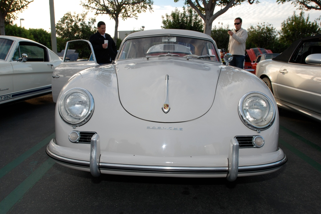 Ivory 1955 Porsche Continental coupe_front view_Cars&Coffee_October 6. 2012