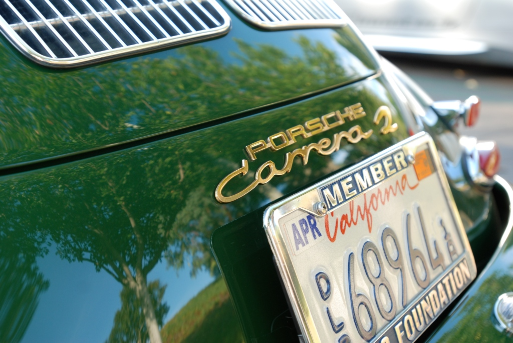 Green Porsche 356 Carrera 2_ rear view ,badging_Cars&Coffee_September 29, 2012