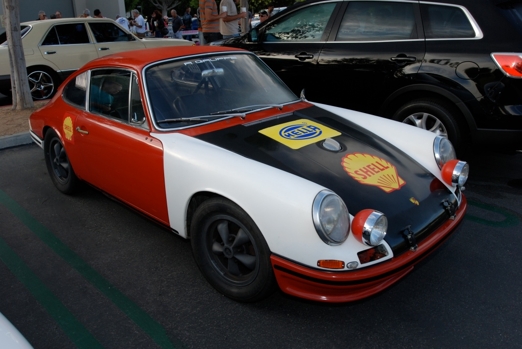 Red, White and Black, 1966 Porsche 911 race car_3/4 front view_Cars&Coffee_October 6, 2012