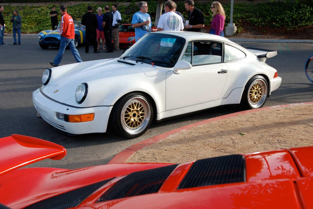 Grand Prix white 1991 Porsche 964 turbo_3/4 side view_Cars&Coffee_October 6, 2012