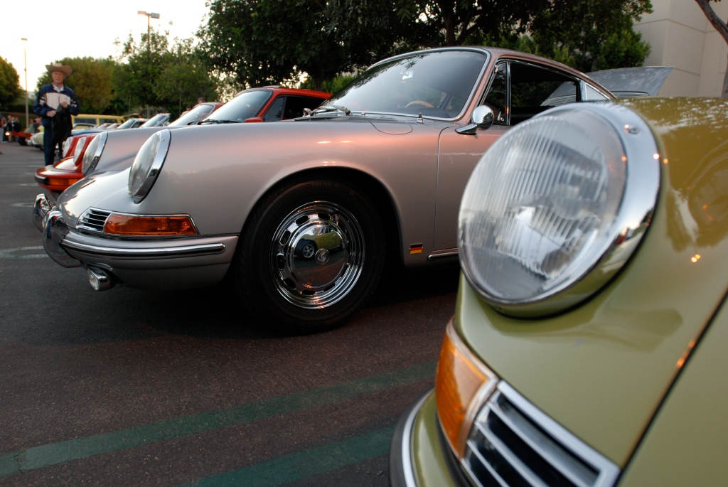 Porsche row_911 headlights & reflections_Cars&Coffee_October 27, 2012