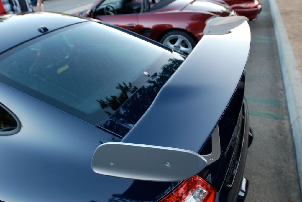 2011 Dark Blue GT3 RS4.0_rear fender, window & wing reflections_Cars&Coffee_November 10, 2012