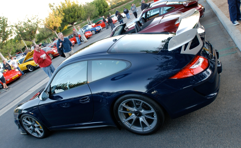 2011 Dark Blue GT3 RS4.0_3/4 rear angled view_Cars&Coffee_November 10, 2012