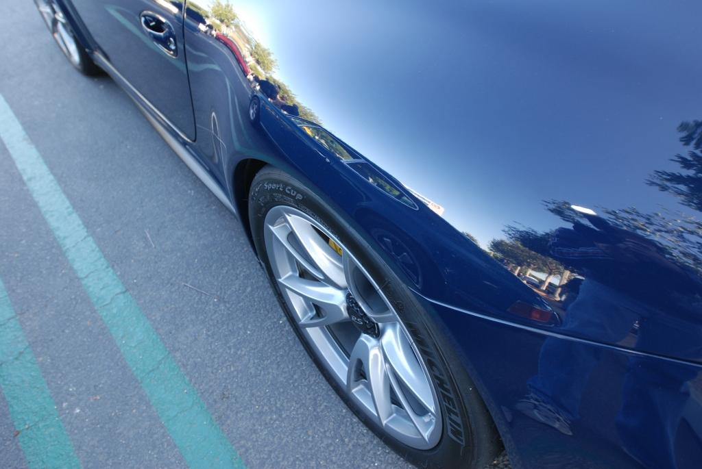 2011 Dark Blue GT3 RS4.0_rear fender reflections_Cars&Coffee_November 10, 2012