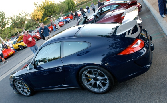 2011 Dark Blue Porsche GT3 RS4.0_ angled side view_Cars&Coffee, Irvin_DSC_0358_2