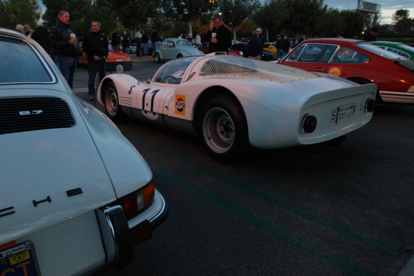 White 1966 Porsche 906 race car_3/4 rear view_Cars&Coffee/Irvine_December 29, 2012_DSC_0524