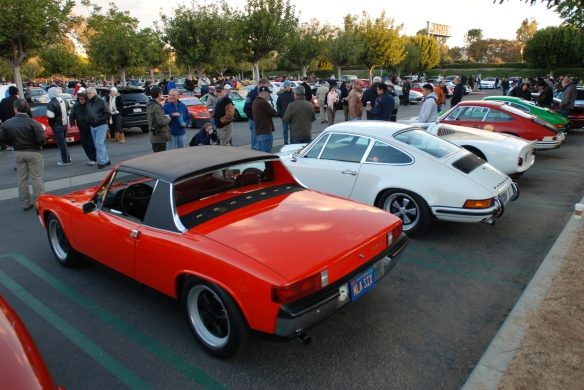 Porsche row_with orange 914-6 in foreground_Cars&Coffee/Irvine_December 29, 2012_DSC_0567