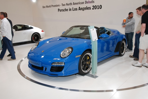 2010 LA Auto show _debut of 2011 Porsche 997 Speedster