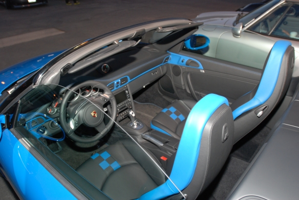 2011 Pure Blue Porsche 997 Speedster_ interior shot_Cars&Coffee/Irvine_January 12, 2013