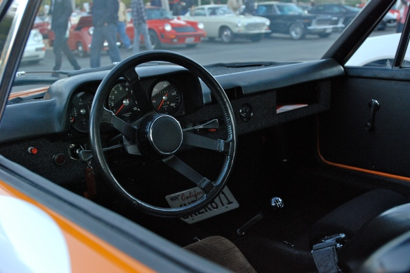 1971 signal orange Porsche 914-6 GT rally car_interior view_Cars&Coffee/Irvine_January 12. 2013
