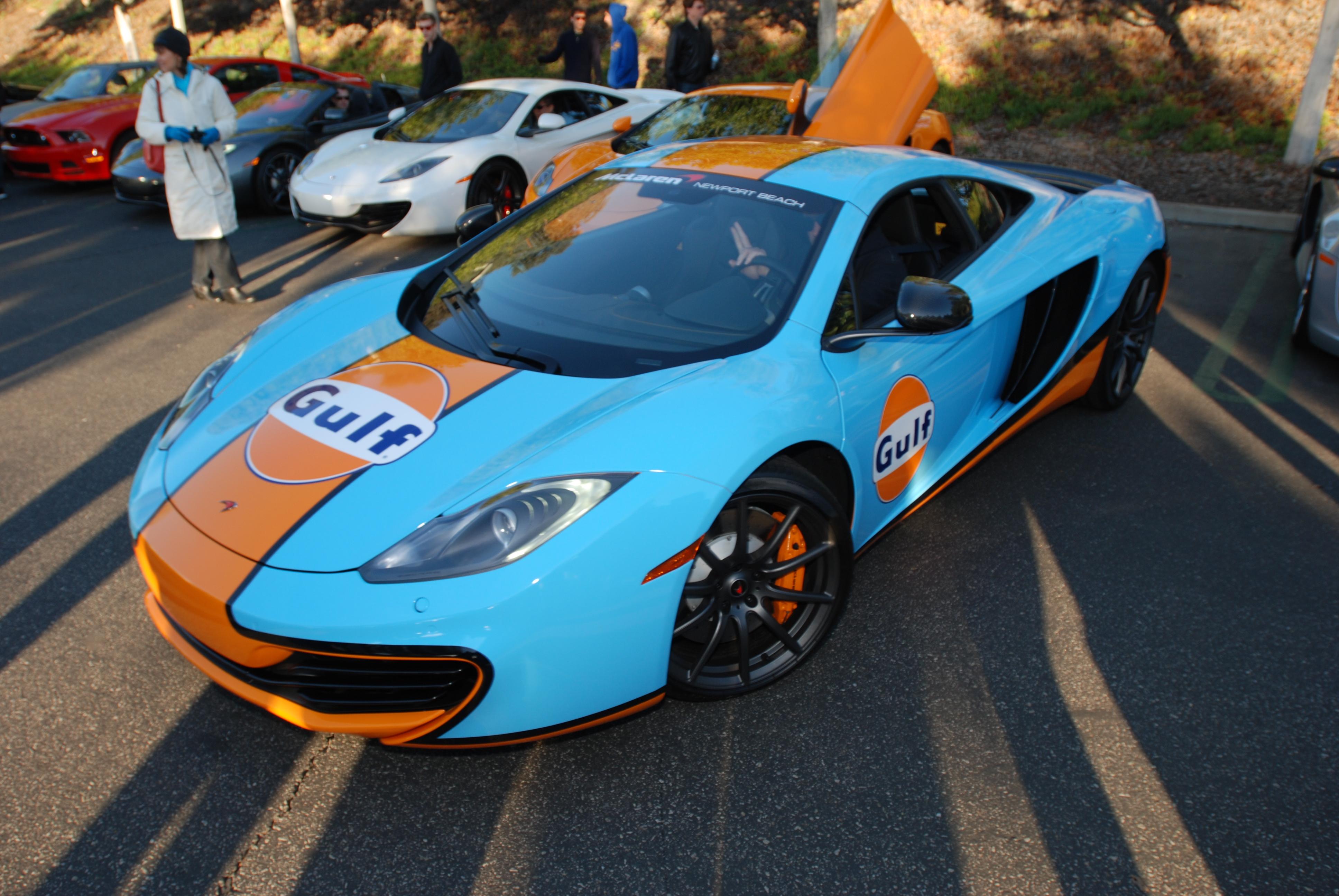 Blue U0026 Orange Gulf Oil McLaren MP4 12C_Carsu0026Coffee/Irvine_January ...