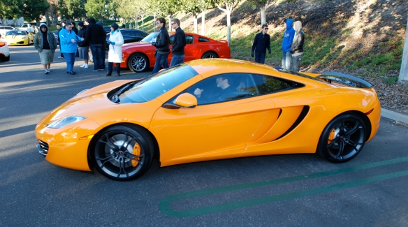 McLaren Orange MP4-12C coupe_ side view_Cars&Coffee/Irvine_January 12, 2013