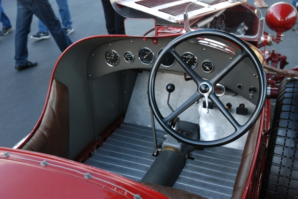Red 1933 Alfa Romeo 8C 2600 race car_Interior shot_Cars&Coffee/Irvine_February 16, 2013