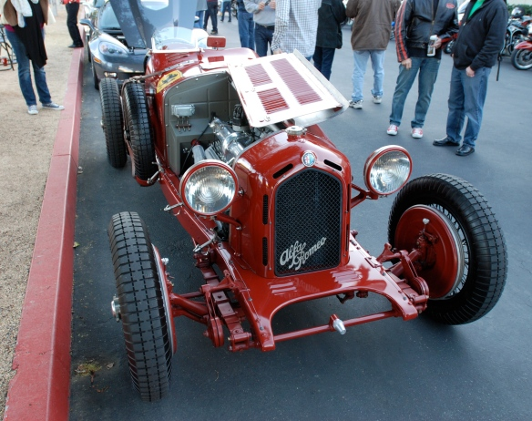 Red 1933 Alfa Romeo 8C 2600 race car_3/4 front view_Cars&Coffee/Irvine_February 16, 2013