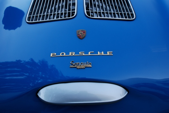 Blue 1955 Porsche 550 Spyder_ rear deck details _Cars&Coffee/Irvine_February 16, 2013