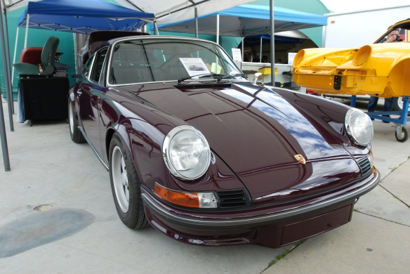 Aubergine 1973 Porsche 911 RS_CPR Classics_ reflections under the tent _Phoenix club all Porsche Swap & Display_3/03/13