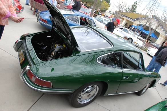 Irish Green Porsche 912 _3/4 rear view _Phoenix club all Porsche Swap & Display_3/03/13