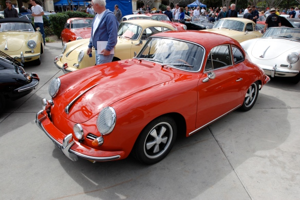 Red Porsche 356 w/ 5 spoke fuchs alloy wheels  _side view _Phoenix club all Porsche Swap & Display_3/03/13