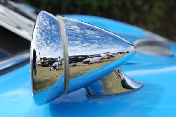Blue 1964 Porsche 904 Carrera GTS prototype_Butzi 904-002_fender mounted mirror reflections_Phoenix club all Porsche Swap & Display_3/03/13
