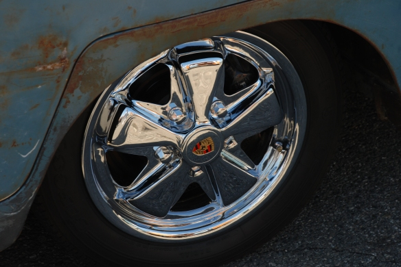 Dove Blue single cab w/OG paint _polished Porsche 5 spoke ally wheel detail_OCTO 2013 Winter show_February 23, 2013