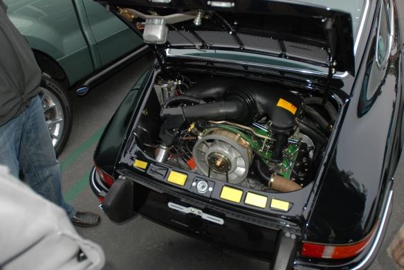 Black 1973 Porsche 911E _fully restored 2.4 liter motor_cars&coffee/irvine_3/16/13