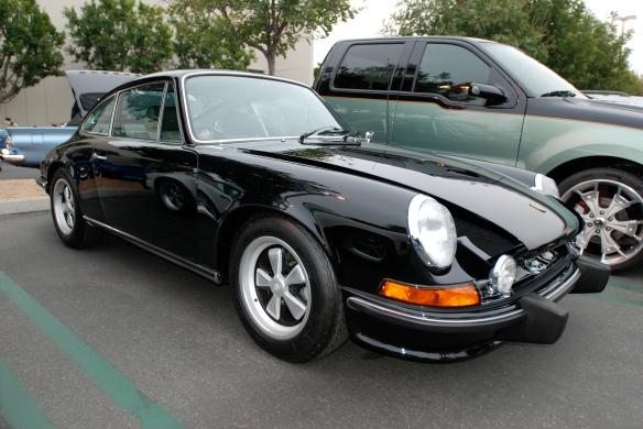 Black 1973 Porsche 911E _3/4 front view_cars&coffee/irvine_3/16/13