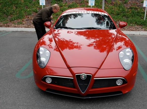 Red 2008 Alfa Romeo 8C Competizione_front view_cars&coffee/Irvine_3/16/13