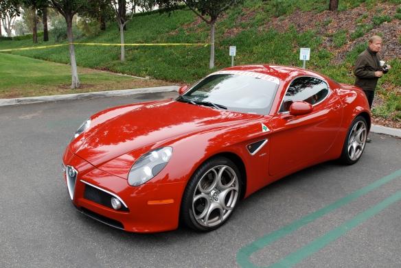 Red 2008 Alfa Romeo 8C Competizione_3/4 front view_cars&coffee/Irvine_3/16/13