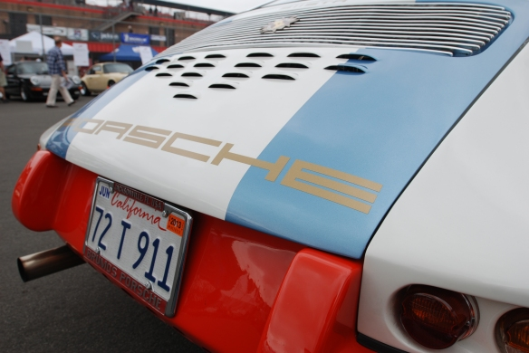 Magnus Walker 1972 Porsche 911STR 002 _Rear decklid detail_California Festival of Speed_April 6, 2013
