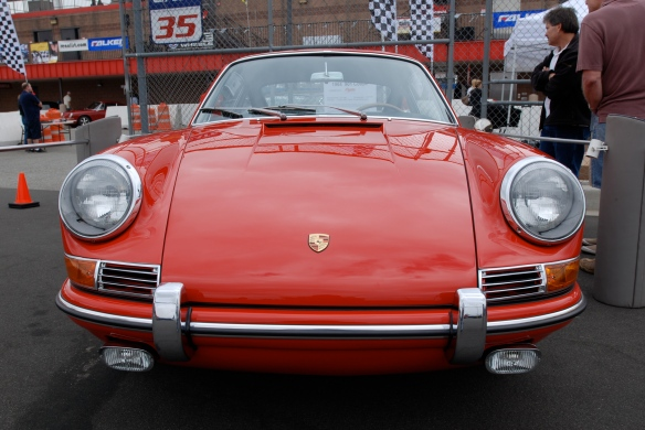 50th anniversary  of the Porsche 911 display_Red 1964 901 Coupe / front view _California Festival of Speed_April 6, 2013
