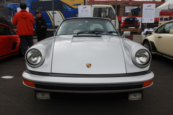 50th anniversary  of the Porsche 911 display_ Silver 1977 911 Targa  / front view _California Festival of Speed_April 6, 2013