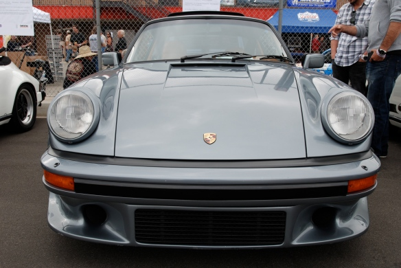 50th anniversary  of the Porsche 911 display_Slate Gray 1984 930 Turbo / front view _California Festival of Speed_April 6, 2013