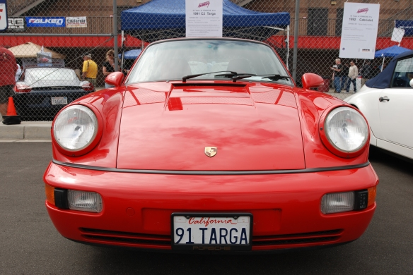 50th anniversary  of the Porsche 911 display_Red 1991 964 C2 Targa  / front view _California Festival of Speed_April 6, 2013
