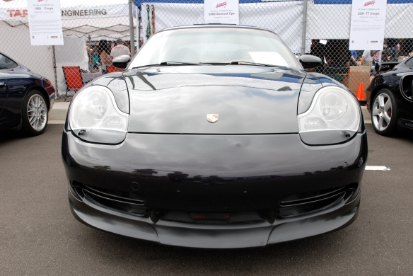 50th anniversary  of the Porsche 911 display_Black  2000 coupe  / front view _California Festival of Speed_April 6, 2013