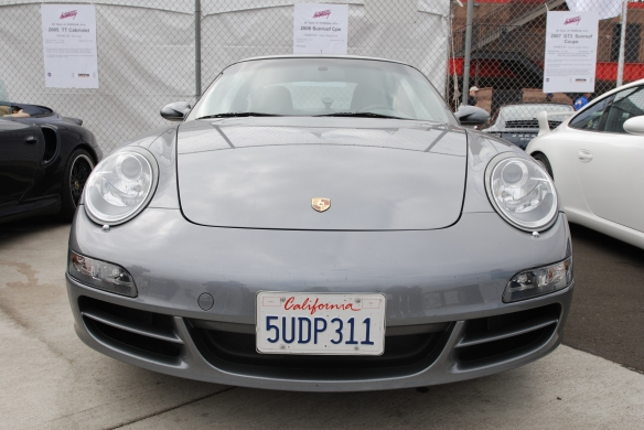 50th anniversary  of the Porsche 911 display_ Silver 2006 997 coupe/ front view_California Festival of Speed_April 6, 2013