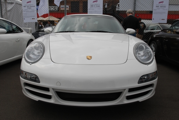 50th anniversary  of the Porsche 911 display_ White 2008 911 Carrera S / front view_California Festival of Speed_April 6, 2013