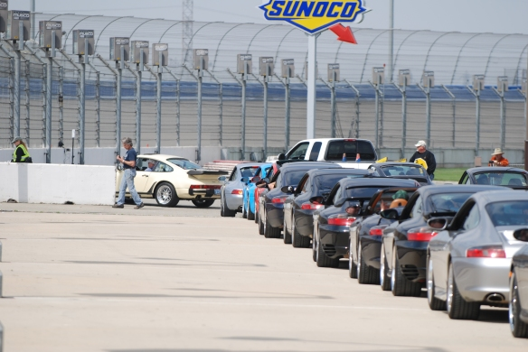 50th anniversary  of the Porsche 911 display_heading out onto the track/group photo_California Festival of Speed_April 6, 2013