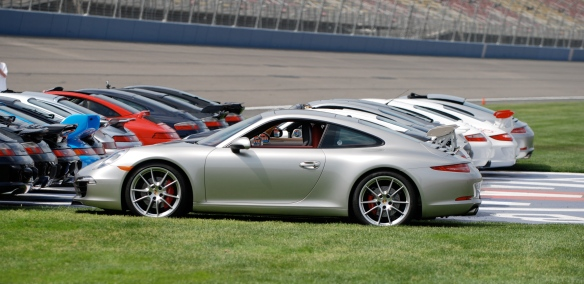 50th anniversary  of the Porsche 911 display_ back row, 2013 911 Carrera S and friends /side view_California Festival of Speed_April 6, 2013