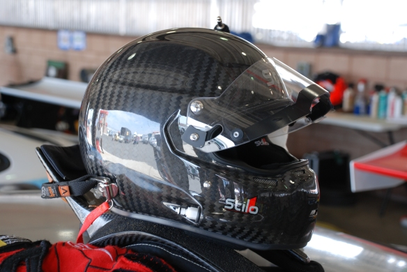 Stilo Helmet shot with reflections_ Garage 3_California Festival of Speed_April 6, 2013