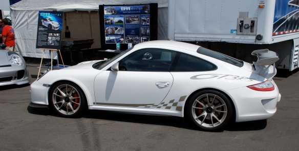 911 design display_White Porsche GT3RS_California Festival of Speed_April 6, 2013