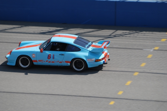 Gulf blue and orange Porsche 911 Carrera #61 at speed_California Festival of Speed_April 6, 2013