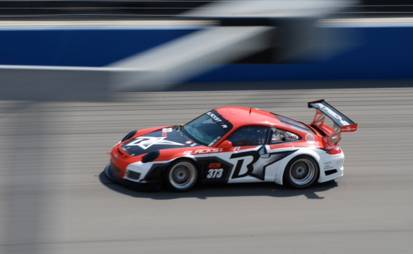 Blackstar Porsche GT3 Cup car#373_pan shot _California Festival of Speed_April 6, 2013