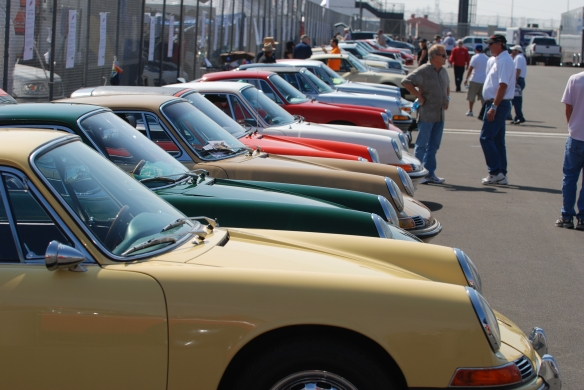 50th anniversary  of the Porsche 911 display_Early 911s, side view _California Festival of Speed_April 6, 2013