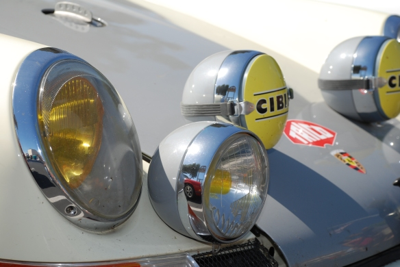 Ivory white and gray hooded Porsche 911ST  recreation_ accessory light details_RGruppe Solvang Treffen_May 18, 2013