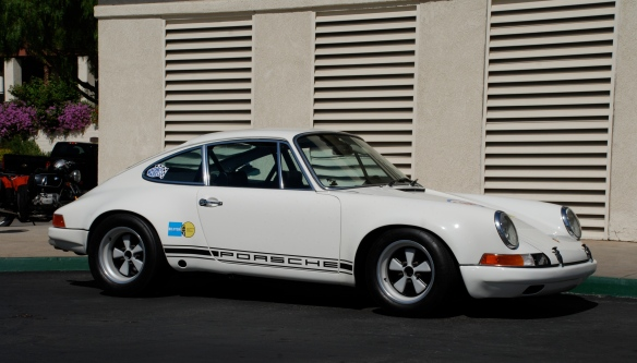 white RGruppe Porsche 911 hot rod_3/4 side view_RGruppe Solvang Treffen_May 18, 2013