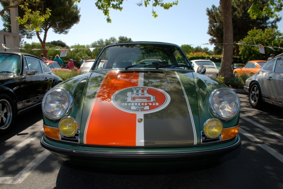 Green metallic with 2 toned stripes,  911 Targa_front view_RGruppe Solvang Treffen_May 18, 2013