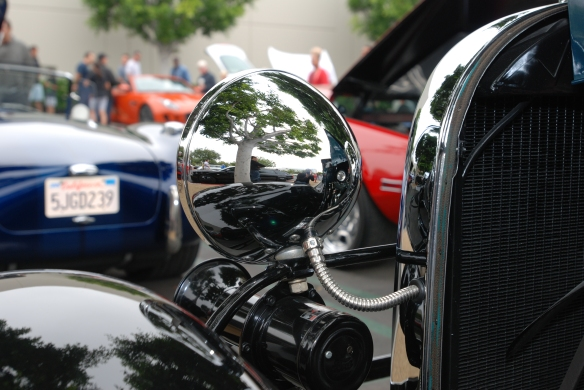 1930's vintage Ford Tudor__headlight reflections_Cars&Coffee/Irvine_May 11, 2013